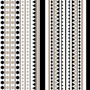 Black Tan Geometric Dance