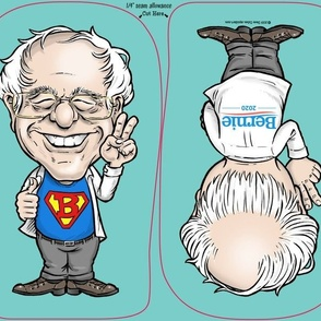 "Bernie Sanders 11"" Bernie Buddy DIY Cloth Doll Panel Bernie 2020"
