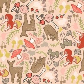 Flora and Fauna Deer in pink