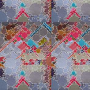 Colored sand motif