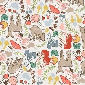 Flora and Fauna deer multicolor