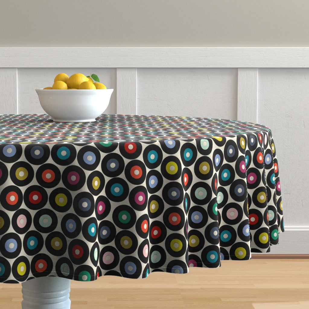 Malay Round Tablecloth featuring VINYL small by scrummy