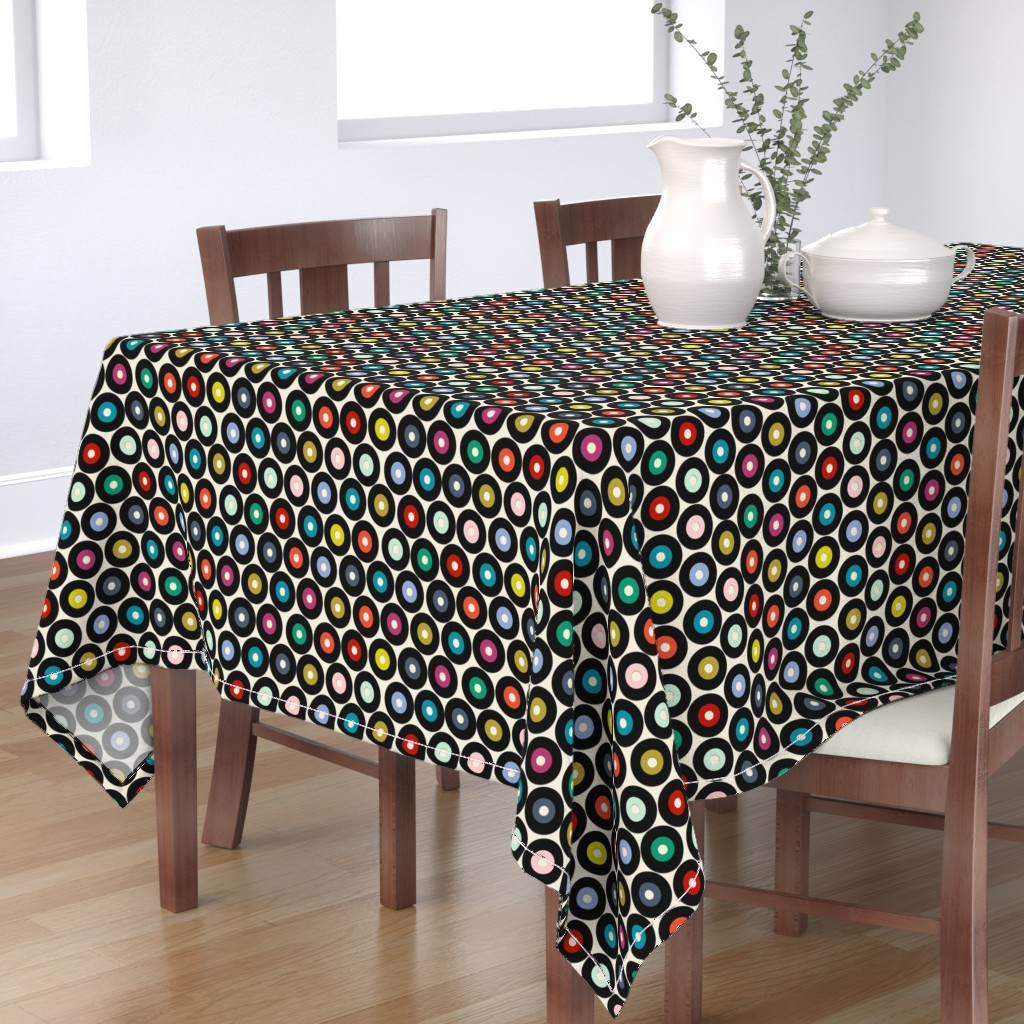 Bantam Rectangular Tablecloth featuring VINYL small by scrummy