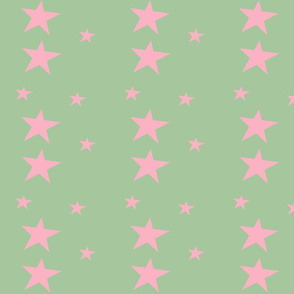 4945395-pink-stars-on-green-by-tobimonkee