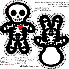 Cute Skeleton Cut & Sew Pillow