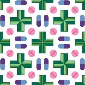 04946542 : pharmacy symbol + pills