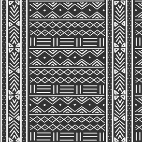 Charcoal Grey African Mudcloth