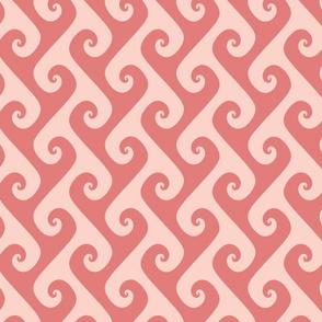 "4"" coral pink tendrils"