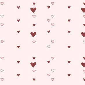 hearts (pink and red)