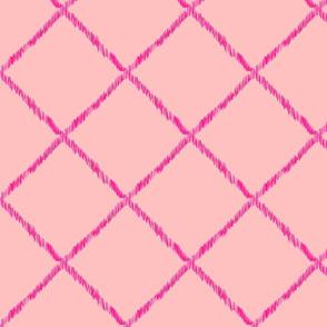 Ikat Lattice - pink