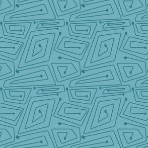 Mid-Century Spirals (shrimp palette)