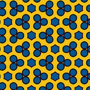 Blueberry Muffin on Bright Yellow