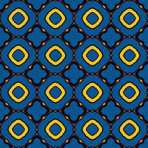 Dancing in Circles Blue & Yellow