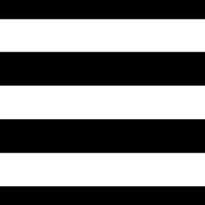 Wide Black and White Stripes