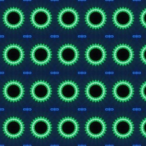Glowing Green Cogs
