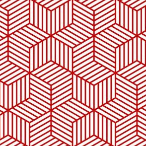 04954966 : chevron 6 bars : red lines