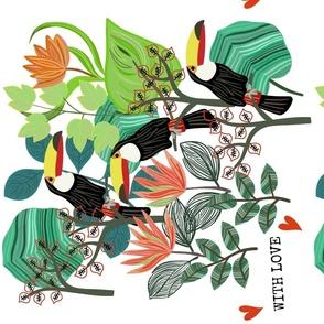 Toucan Love Tea Towel