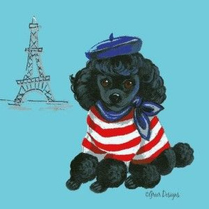 Mon petit Black Poodle Puppy Dog