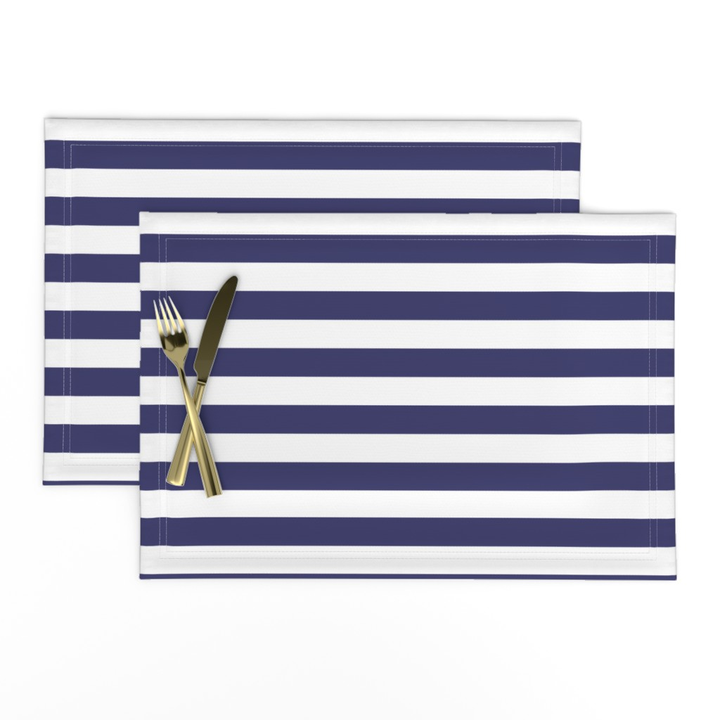 Lamona Cloth Placemats featuring USA Flag Blue and White Stripes  by paper_and_frill