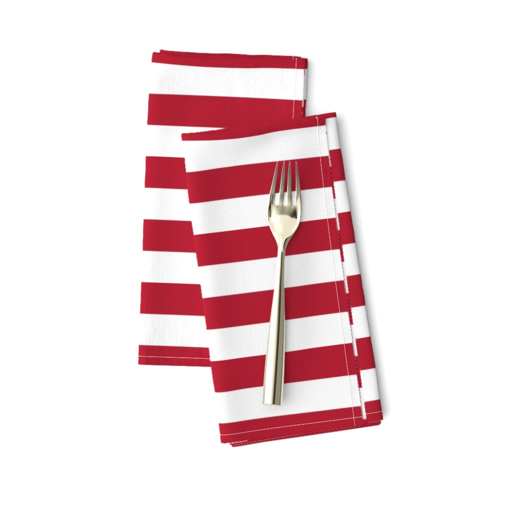 Amarela Dinner Napkins featuring USA Flag Red and White Stripes  by paper_and_frill