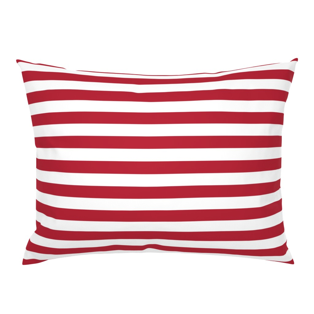 Campine Pillow Sham featuring USA Flag Red and White Stripes  by paper_and_frill
