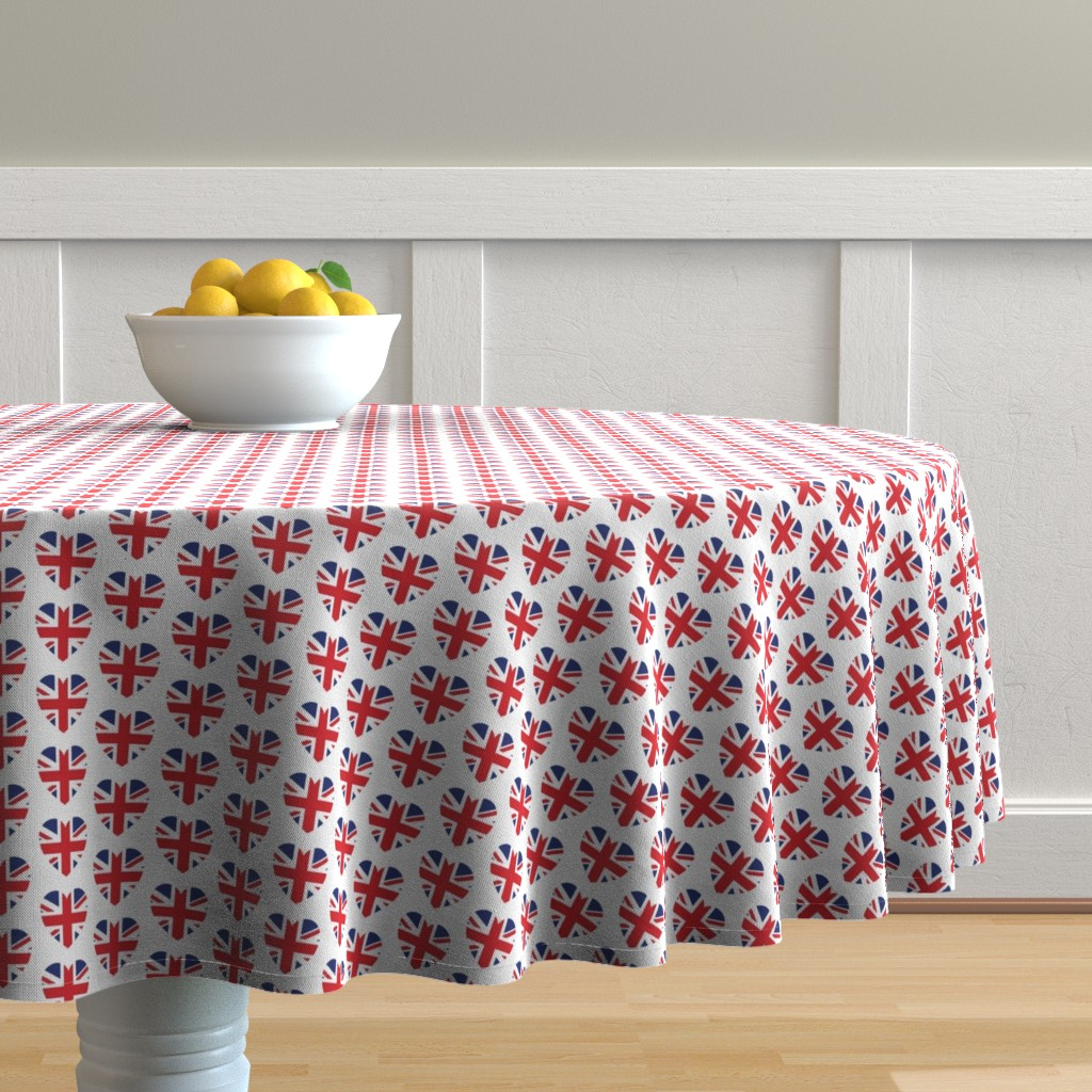 Malay Round Tablecloth featuring British at Heart by nerdfabrics