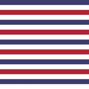Flag Red, White and Blue Alternating Stripes