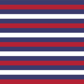 USA Flag Alternating Blue with Red and White Stripes