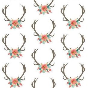 Floral Antler Crown