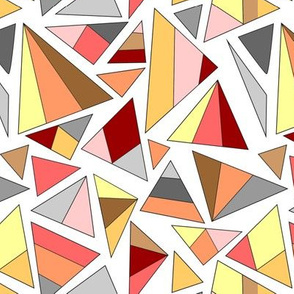 triangles in warm tones