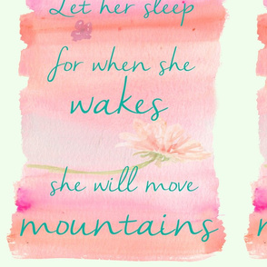 Let Her Sleep. For When She Wakes