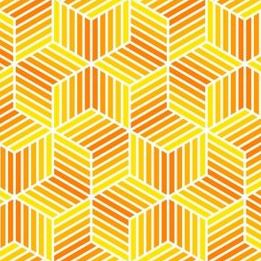 04958027 : chevron 6 bars : yellow to orange