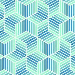 04958029 : chevron 6 bars : icy arctic blues