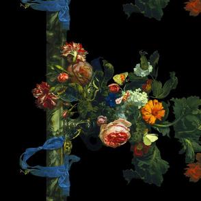 Flower Still Life With A Watch ~ Willem van Aelst ~ Border Print ~ Bright ~ 21 inch border
