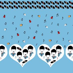 Beatles Love Music Novelty Border Print