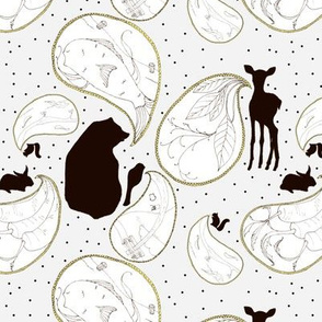 Animal Sounds Paisley - Gray