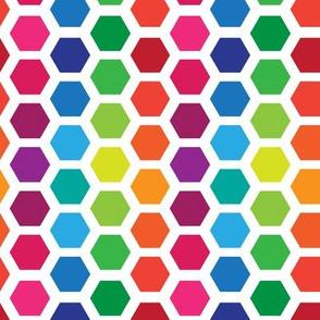 Rainbow Hexies