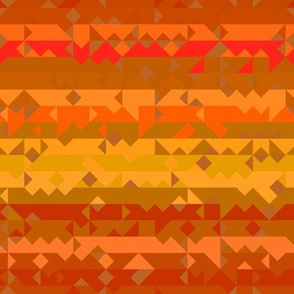 Orange and Yellow Tribal Stripe