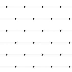 Black & White Dots & Lines