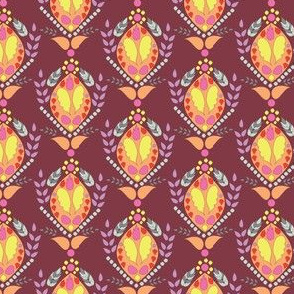 16-15AC Maroon Periwinkle Paisley_Miss Chiff Designs