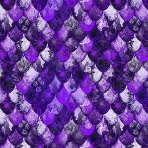 Purple, silver, black dragon scales (for Michael) by Su_G_©SuSchaefer