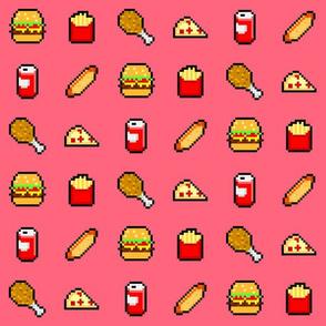 8-Bit Fast Food - Pink