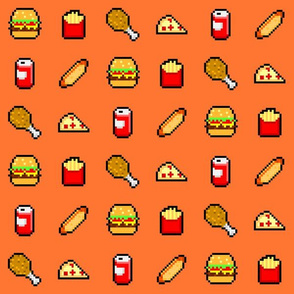 8-Bit Fast Food - Orange