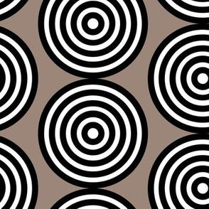 Taupe Target Large  Modern Miss Chiff Designs