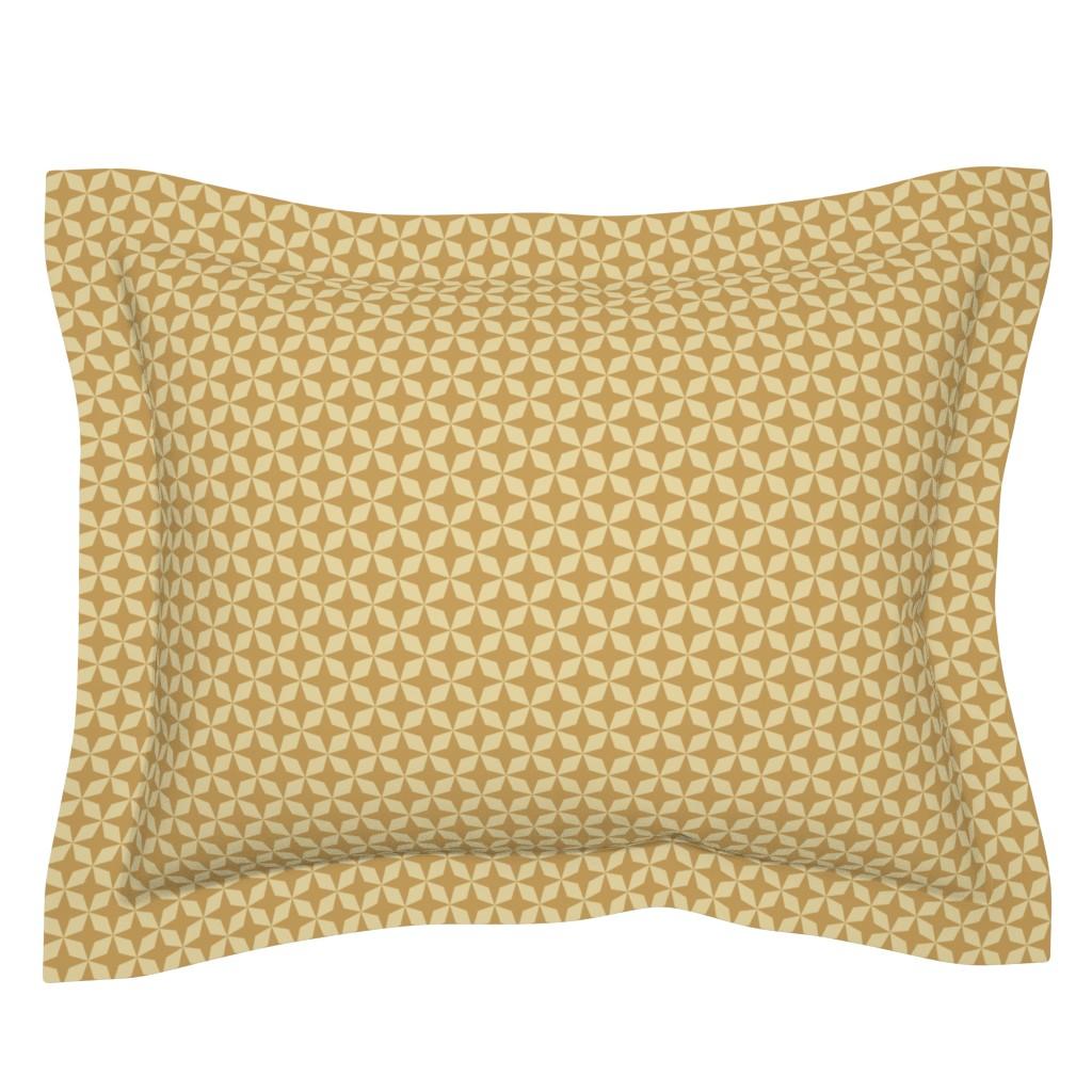 Sebright Pillow Sham featuring Gold Stars by anniecdesigns