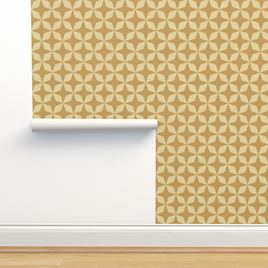 Isobar Durable Wallpaper featuring Gold Stars by anniecdesigns