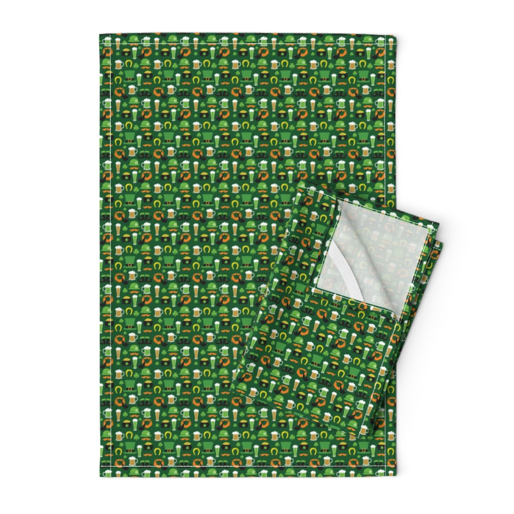Orpington Tea Towels featuring Saint Patrick's Day,, St. Pattys Day, St. Paddys Day by furbuddy