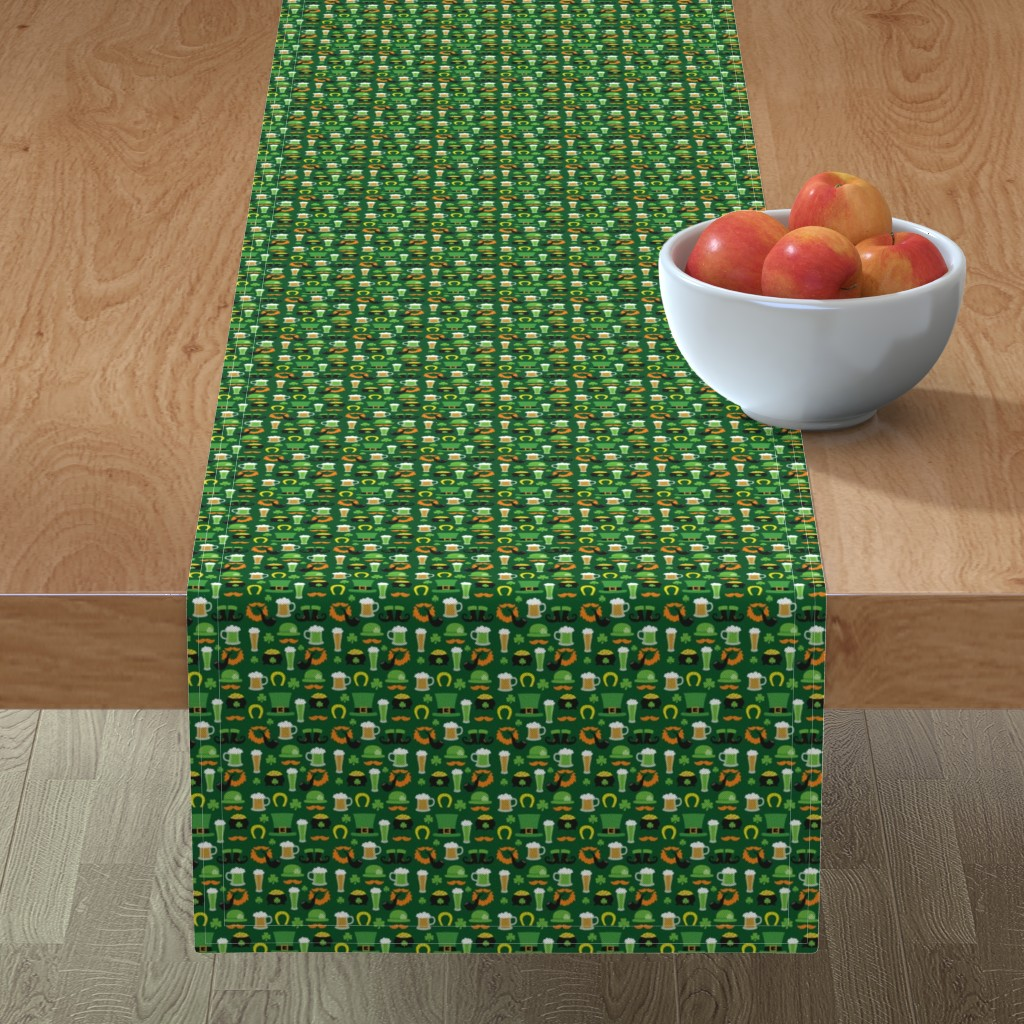 Minorca Table Runner featuring Saint Patrick's Day,, St. Pattys Day, St. Paddys Day by furbuddy
