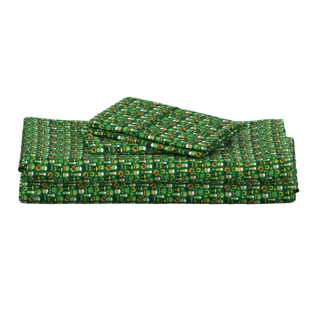 Langshan Full Bed Set featuring Saint Patrick's Day,, St. Pattys Day, St. Paddys Day by furbuddy