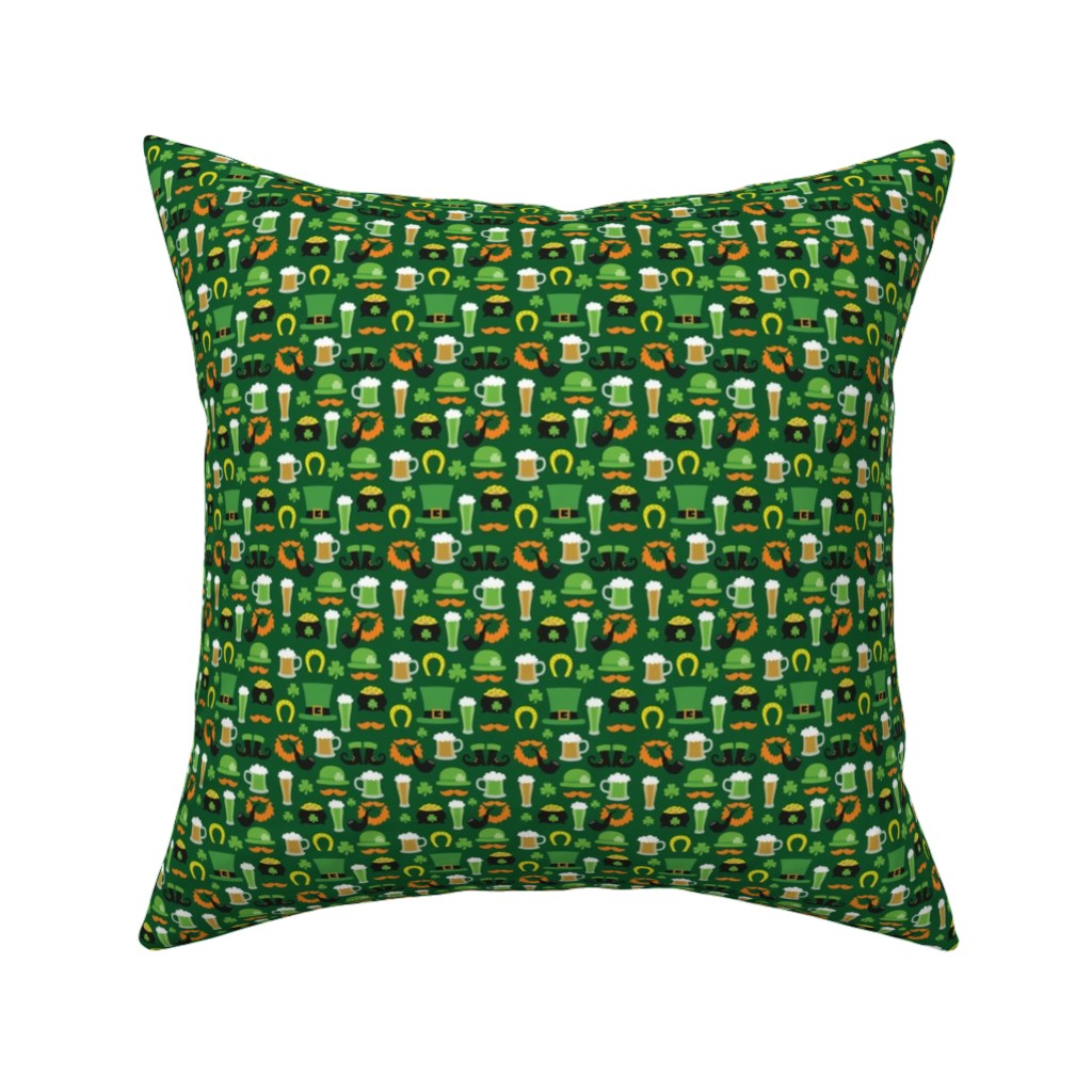 Catalan Throw Pillow featuring Saint Patrick's Day,, St. Pattys Day, St. Paddys Day by furbuddy